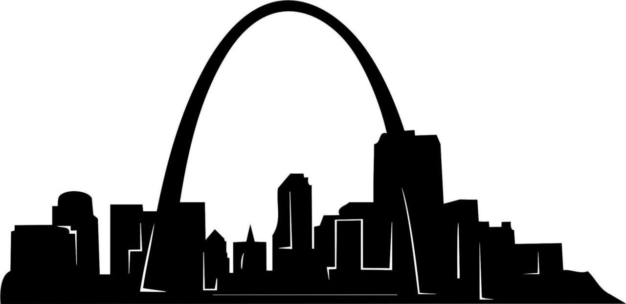 "Gateway Arch St Louis Decal Picture Art Wall Sticker 40"" x ..."