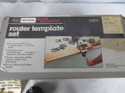 Craftsman router template set letters numbers 2 bits 92573 for Router alphabet templates