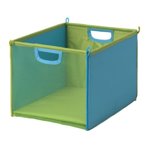 Childrens Kids Bedroom Furniture Set Toy Chest Boxes Ikea: KUSINER IKEA MESH BOX Foldable Saves Space GREEN OR RED