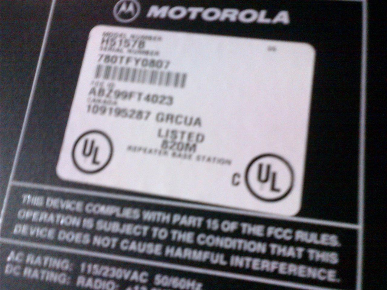 Motorola Radius GR1225 Repeater Model H5157B