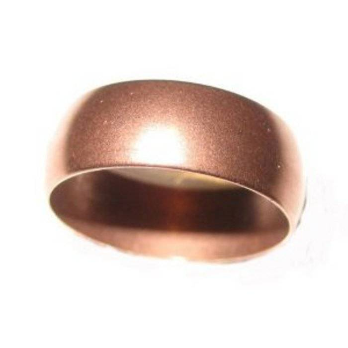 Pure Solid Copper Ring Plain Wedding Ring Arthritis Pain
