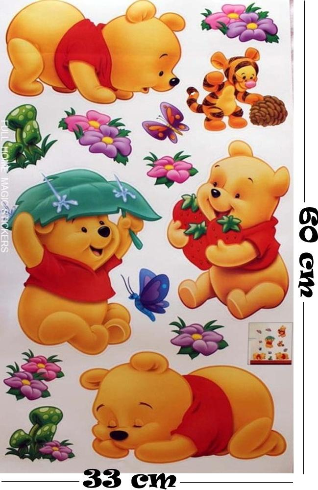 Winnie The Pooh Butterfly Removable Wall Sticker Decal for Kids Decor Home AU