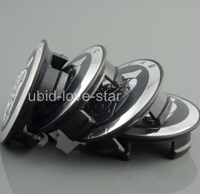 "2 25"" 59mm Jaguar Emblem Wheel Center Covers Caps s Type x Type XK XF XJ8 XK8"