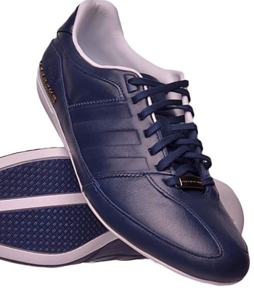 adidas porsche typ 64 mens leather trainers coligiate navy. Black Bedroom Furniture Sets. Home Design Ideas
