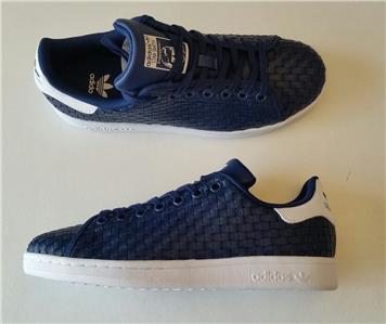 Détails sur Adidas Enfant Garçon Stan Smith Baskets Neuf Bleu Marine Blanc bb0204 Taille UK