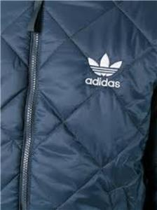 Details about Adidas Men's Quilted Superstar Bomber Jacket Coat Navy NEW ay9143 Size show original title