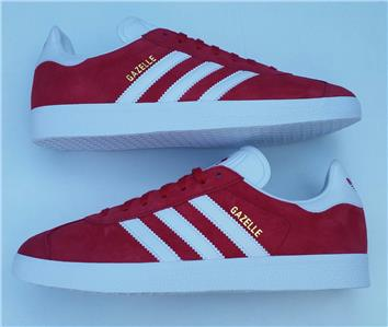 933d747e34d adidas mens gazelle trainer shoe casual retro original red new ...