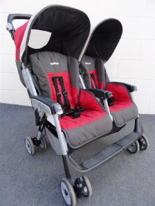 peg perego aria twin 60 40 duo double stroller red. Black Bedroom Furniture Sets. Home Design Ideas