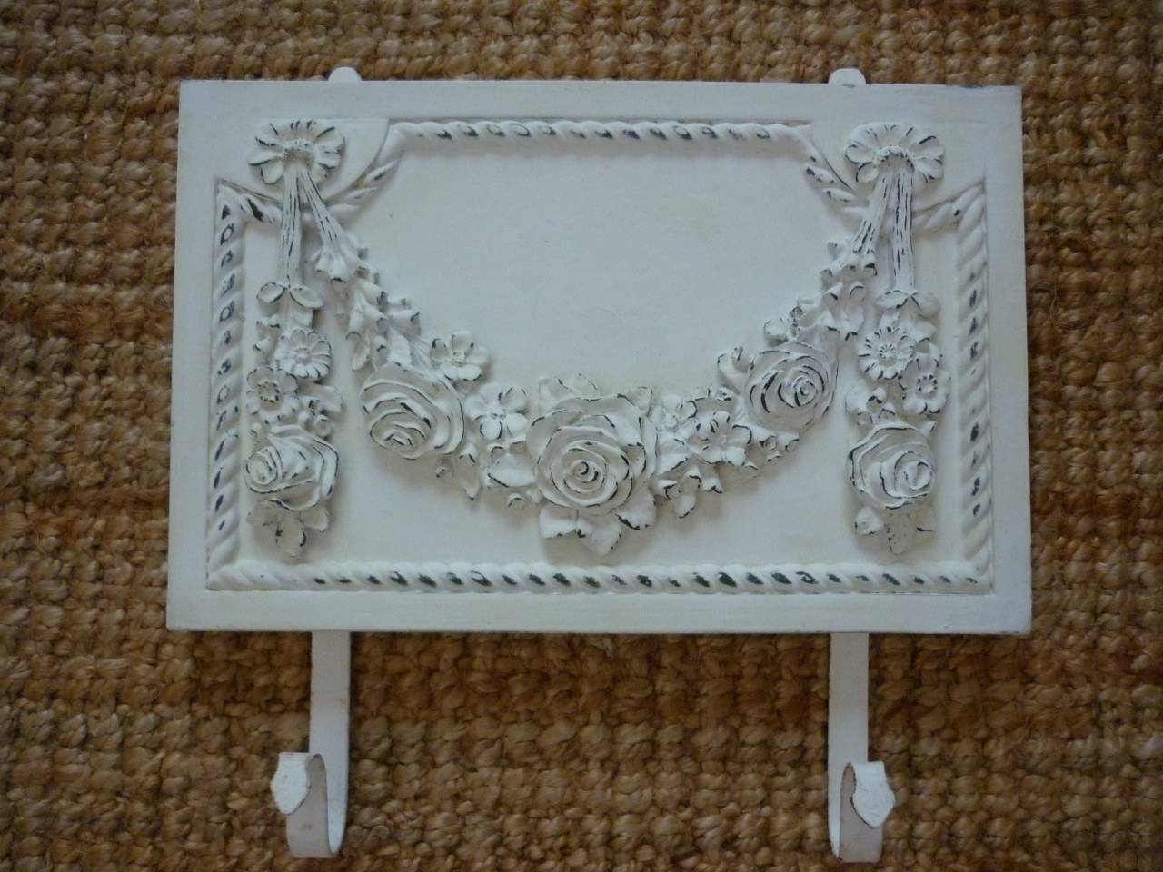 shabby n chic french provincial vintage furniture applique large rose wreath ebay. Black Bedroom Furniture Sets. Home Design Ideas