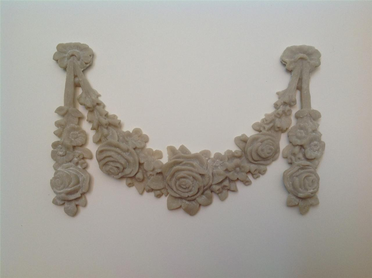 shabby n chic french provincial vintage furniture applique large rose wreath