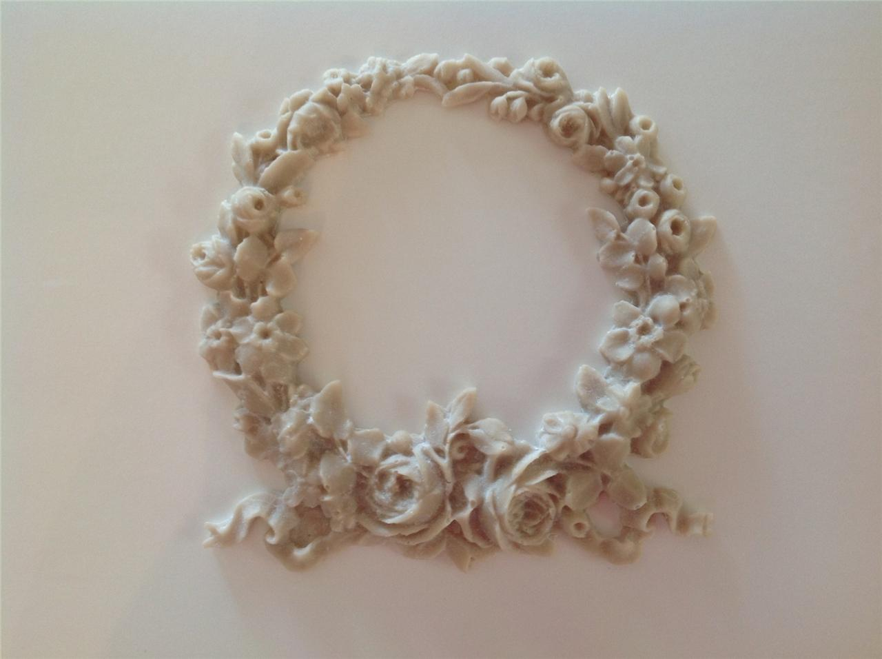 shabby n chic french provincial vintage furniture applique large rose wreath ebay. Black Bedroom Furniture Sets. Home Design Ideas
