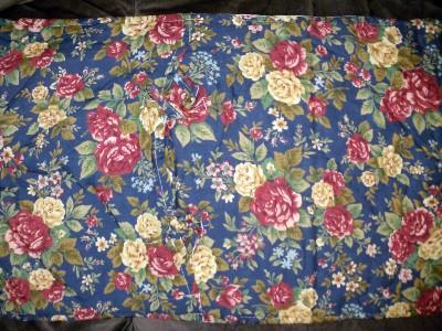 quilt patchwork tagesdecke landhausstil 240 x 260 cm dunkelblau ebay. Black Bedroom Furniture Sets. Home Design Ideas