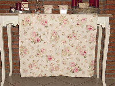tischdecke rosen landhausflair landhausstil shabby chic 85 x 85 cm ebay. Black Bedroom Furniture Sets. Home Design Ideas
