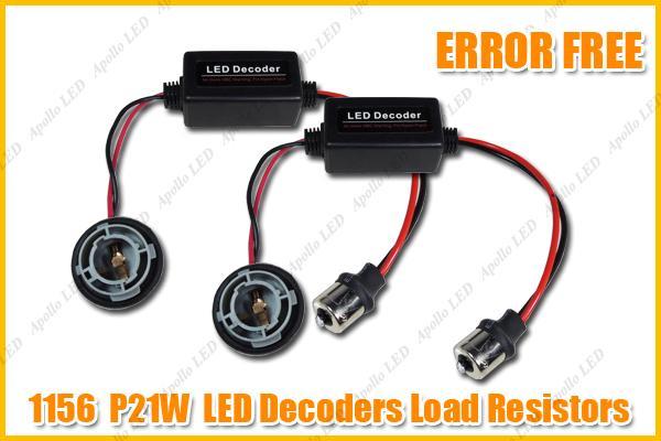 2pcs 1156 p21w led canbus load resistors decoders hyper. Black Bedroom Furniture Sets. Home Design Ideas