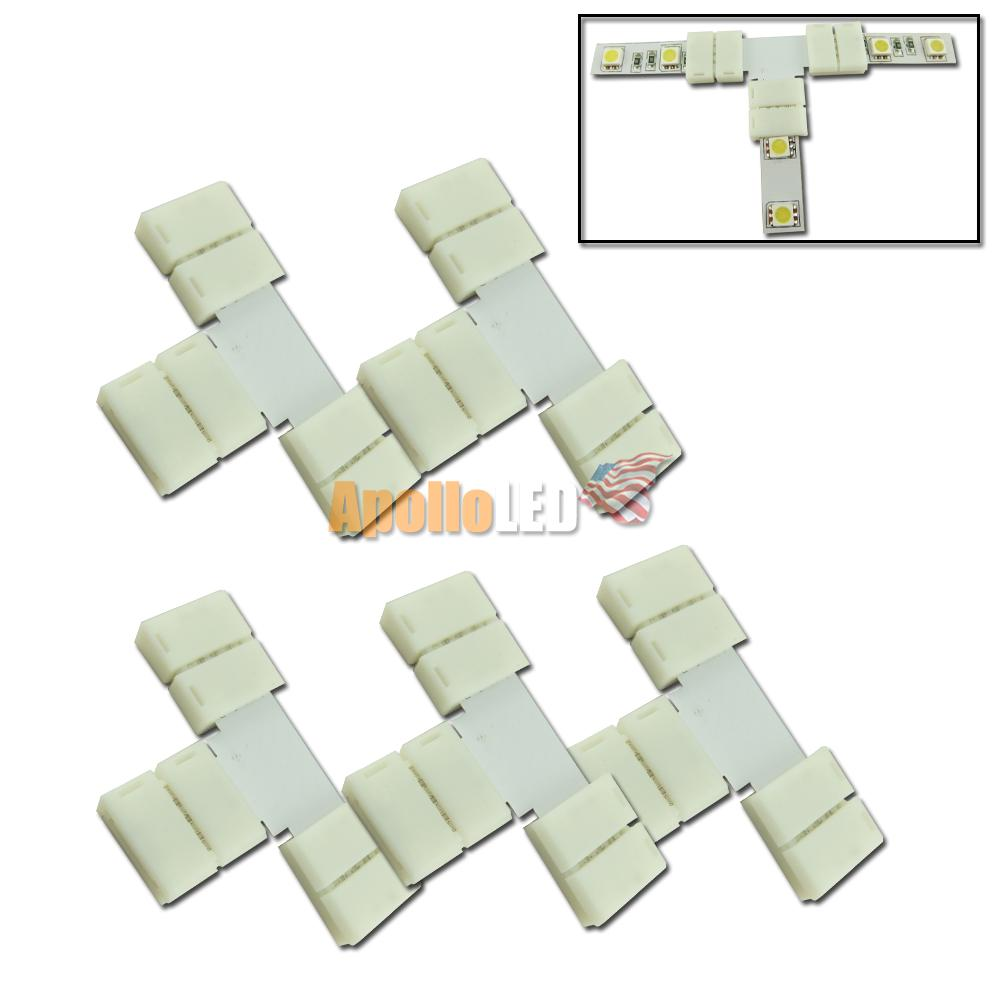5pcs T Type Quick Connector For Multi Color RGB 5050-SMD