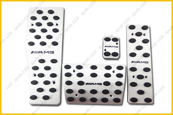 One Set 4pcs Stainless Aluminum Foot Pedals For Mercedes