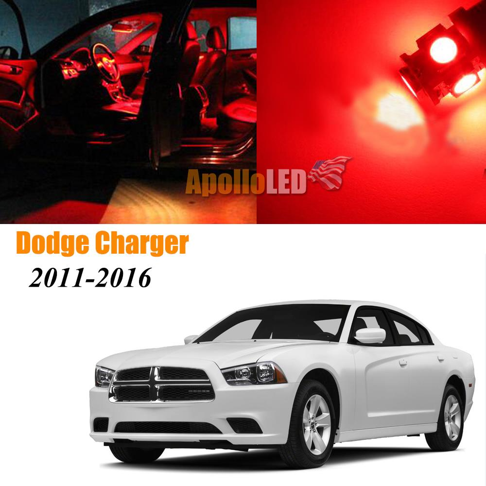 Full Red LED Lights Upgrade Interior Package For 2011-2016