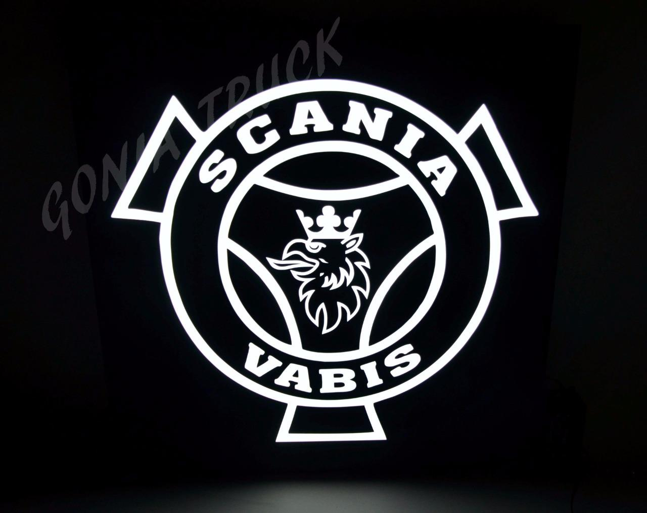 LEDs LOGO SCANIA VABIS With The Dimmer Switch And