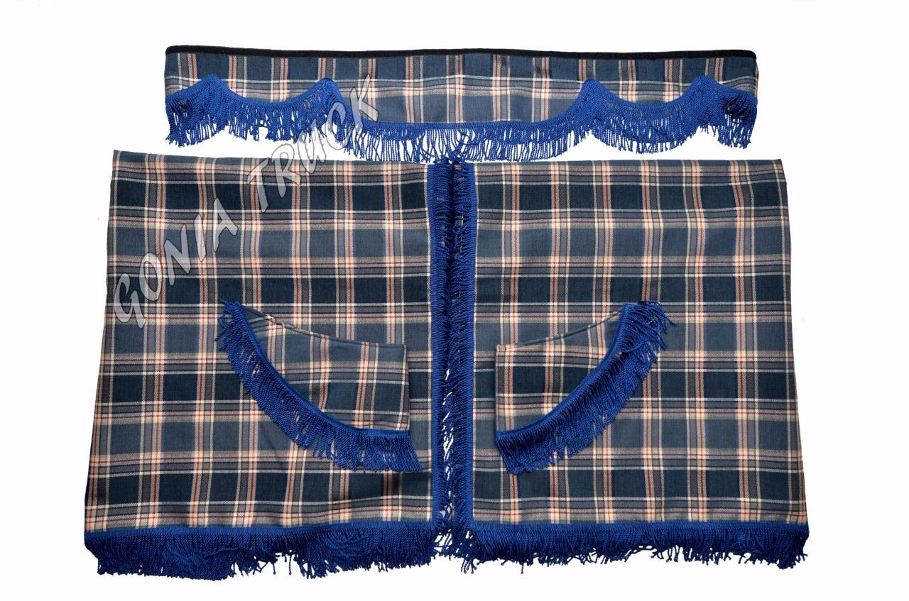 TARTAN TRUCK CURTAINS SMALL SET WITH LINING