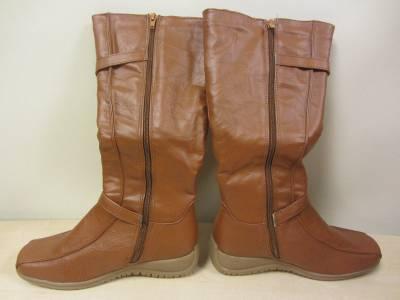 Womens Bongo Logan 20303 Slouch Riding Boots SIZE 6.5 Cognac Brown Tan *I43 New