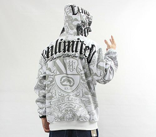 4 W3 Men s Hip Hop ECKO UNLTD Graffiti Printing Zipper Hoodie Sweater  Sweatshirt  df5c2204b45