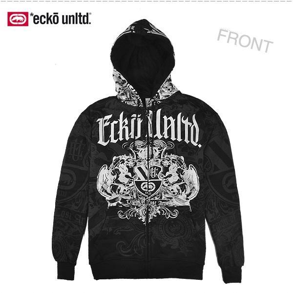 4 W3 Men Hip-Hop ECKO UNLTD Graffiti Printing Zipper Hoodie Sweater  Sweatshirt 0bcc8f7d3d6