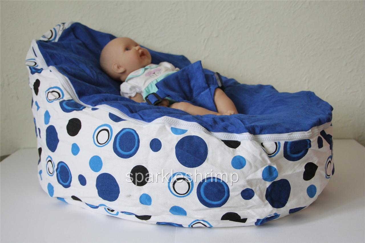 Baby And Toddler Bean Bag With Harness Kids Bean Bag Blue