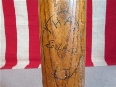 Details about Vintage 1930s Sednal 'That's It' Wood Baseball Bat Handmade  35