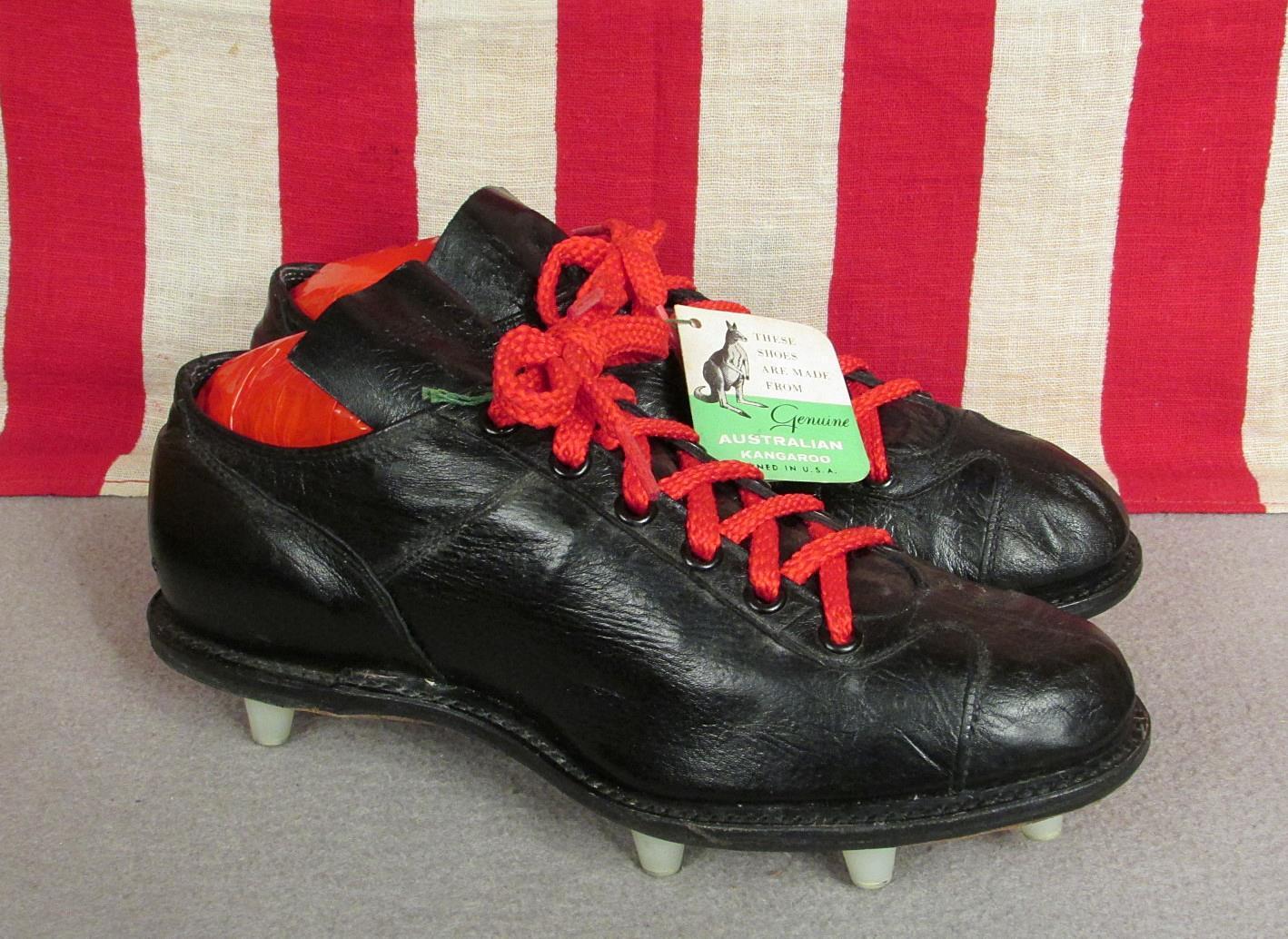 Wilson 1960s Cuero Canguro Vintage Negro De Tacos Zapatos Fútbol xdCBore