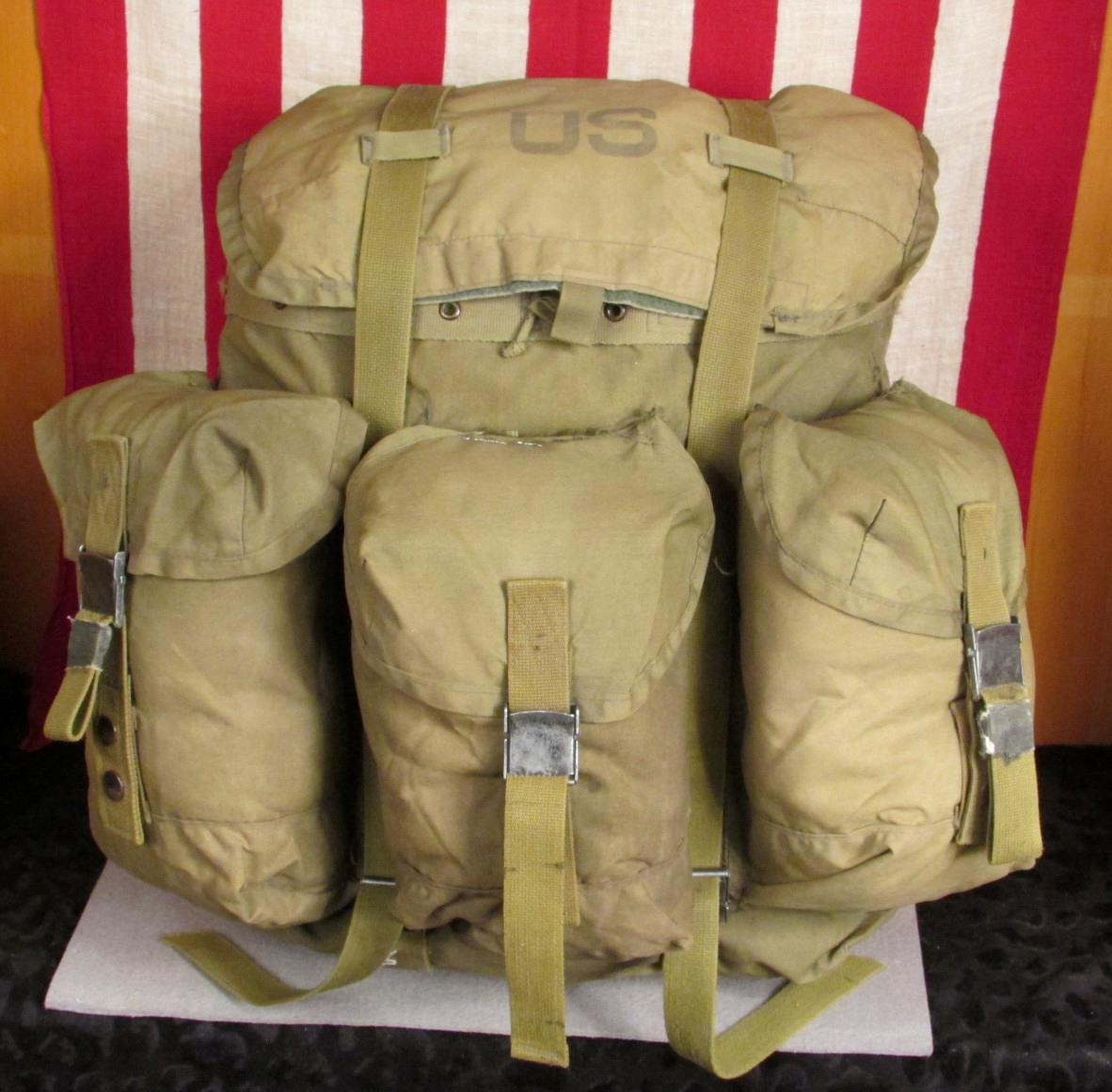 Details about Vintage US Army Military OD Green Alice Rucksack Combat  Backpack LC-1 Field Pack 5316e19af835