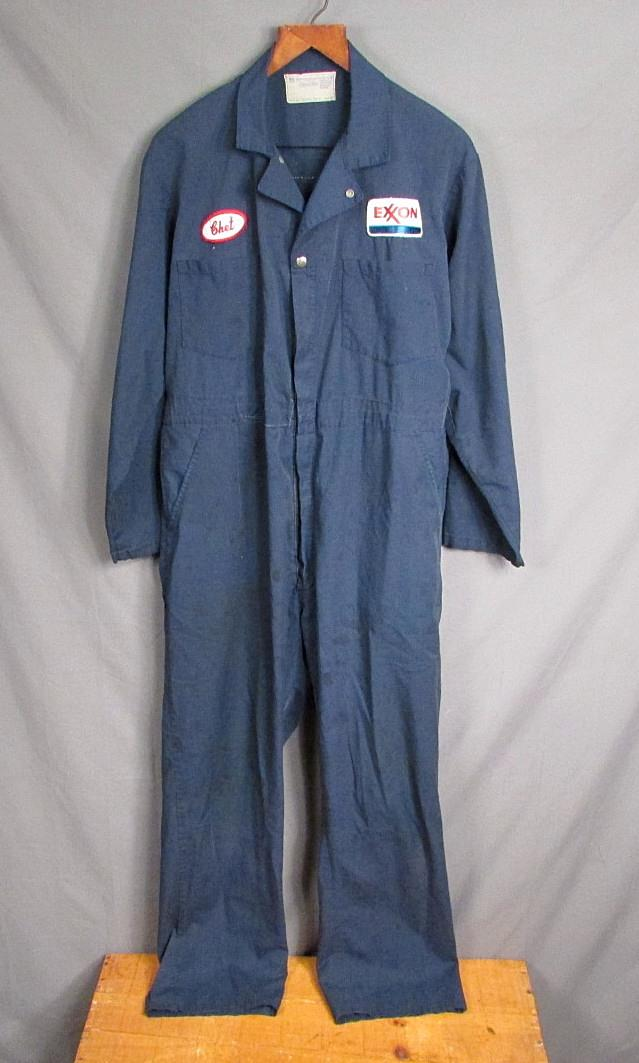 f6d909ab4ec Vintage 1950s Exxon Gas Service Station Coveralls Work Universal 46 Union  Made