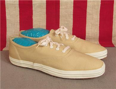 02af38c76e7 Vintage 1960s Keds Champion Oxford Canvas Sneakers Chino NOS Shoes w ...