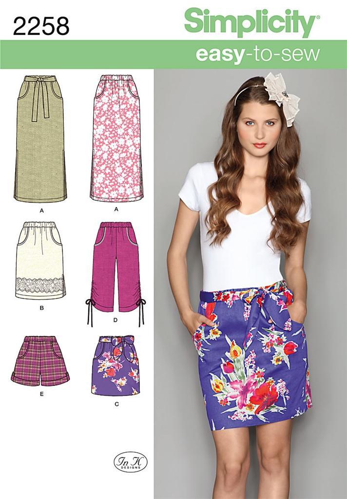 easy womens skirt patterns - photo #28
