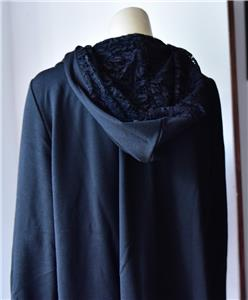 CATERINA LANCINI COAT JACKET Black Laces size 3XL new with tag # 47
