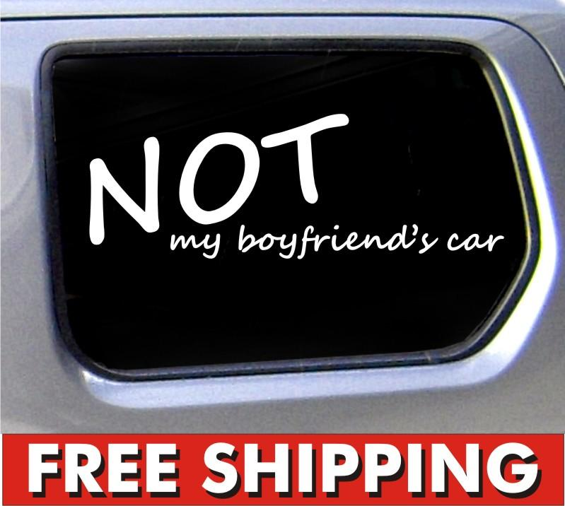 Not my boyfriends car sticker conneciton jdm decal sticker girl racing  vinyl window car