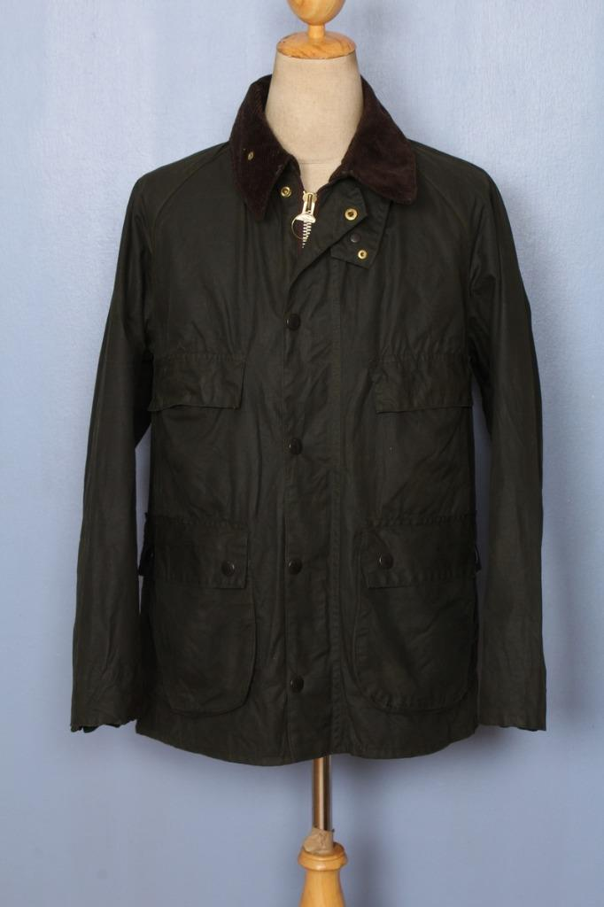 BARBOUR-Bedale-Waxed-Jacket-Green-Size-40-Medium