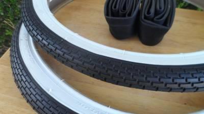 20x1.75 Brick Pattern White Wall Tires 20x1.75 BMX Lowrider DYNO GT