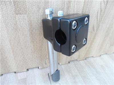 "Black BMX Quill Stem for threaded 1/"" 21.1mm shaft GT Mallet Style w// Potts Mod"