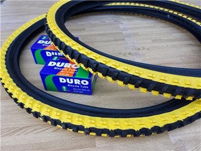 "26x1.95 Black /& Yellow Bicycle Knobby Tires and Tubes Mountain Bike 26/"" NEW"