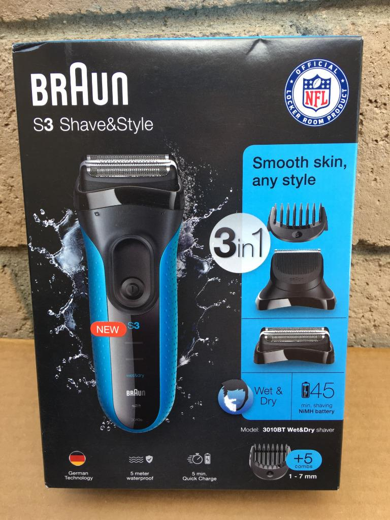 Braun Series 3 Shave & Style 3010BT 3-in-1 Electric Wet & Dr