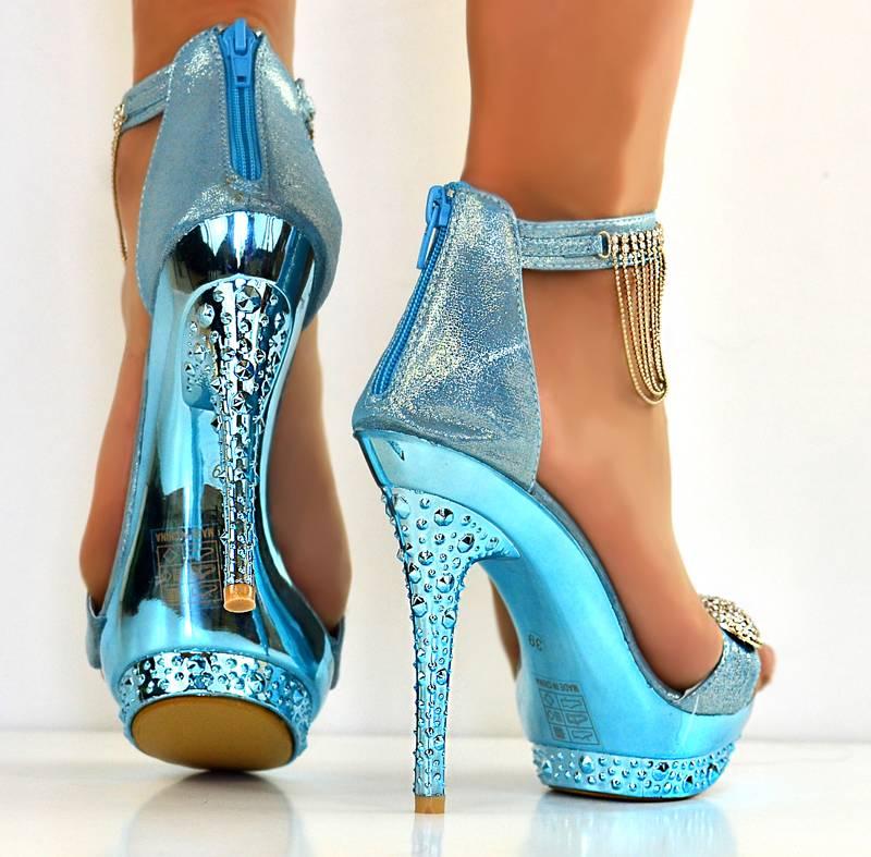 high heels sandals light blue - photo #48