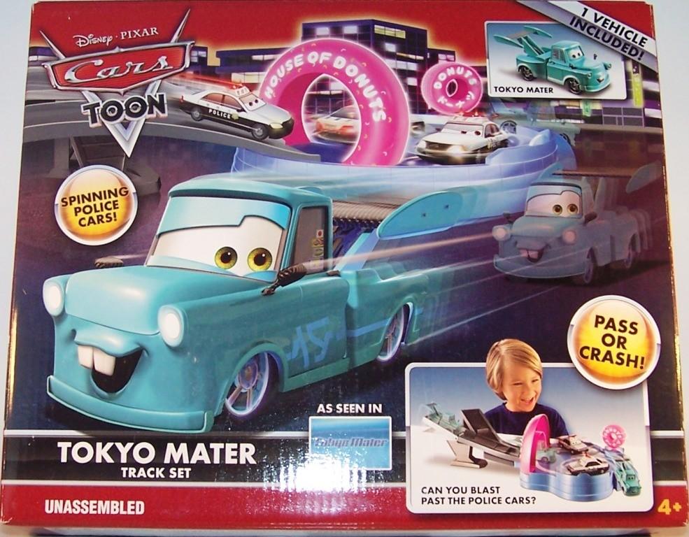 Disney Pixar Cars TOON Tokyo Mater Track Set WithTokyo