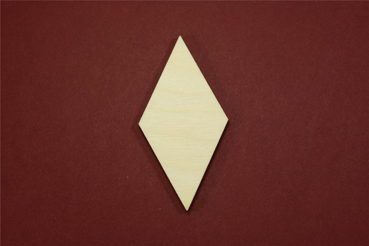 Diamond Shape Unfinished Wood Laser Cut Shapes Crafts