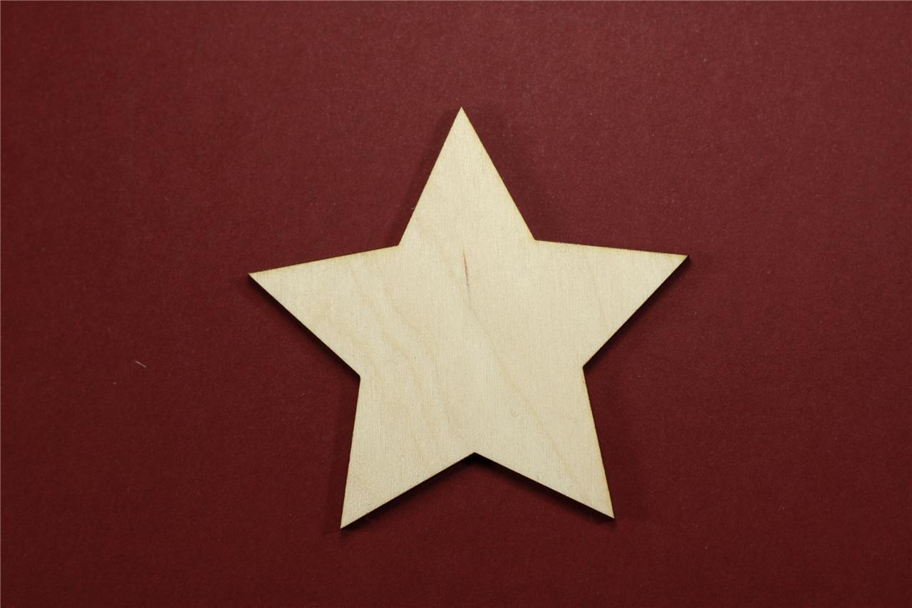 Star Shape Unfinished Wood Laser Cut Shapes Crafts Variety