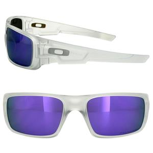 45af01800b New Oakley Crankshaft Sunglasses Matte Clear Violet Iridium OO9239-09  Authentic