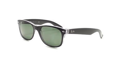 dc582b451f RAY BAN 2132 New Wayfarer 6052 58 55mm Sunglasses Black Trans Green  Polarized
