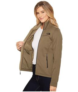 The North Face Timber Full Zip Fleece Jacket Taupe Green Women s Medium M 5b0e0b967