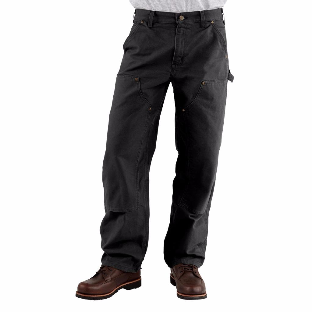 New Carhartt Double Front Dungaree Jeans B136 Work Pants Cotton Duck All Sizes | eBay
