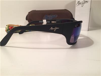 286c6d4f857 New Maui Jim Peahi Polarized Sunglasses Black Blue Hawaii Mirror Glass 202 -2M
