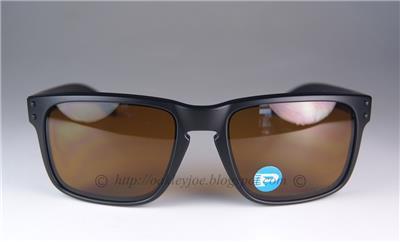 New Oakley Holbrook POLARIZED Sunglasses Matte Black Bronze Retro 100%  Authentic 8717bf87db